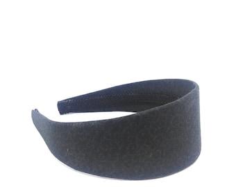 2 inch Wide Headband Black and Gray - Preppy - Black and Gray Swirls Headband - Big Girl Headband, Adult Headband - Fabric Covered Headband