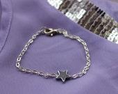 Simple Silver Star Bracelet.