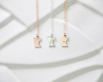 Minnesota State Necklace, Silver Minnesota Necklace Gold, State Heart Minnesota, Gold Minnesota, Sterling Silver Minnesota Charm, bracelet