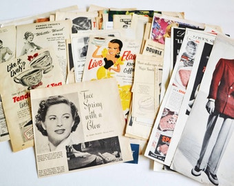 Ephemera Pack II - Vintage Advertising - 1940's - 1950's