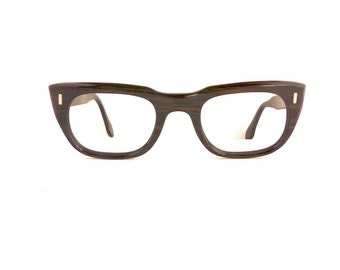 Viennaline Eyeglasses Frames Unisex Vintage 1950's 1960's Black Frames Made in Austria #M389 DIVIVE
