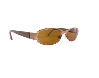 Burberry Readers Sunglasses Women's Vintage 1990's Gun Metal with Plaid Arms Made in Italy Comes with Case #M401 DIVINE