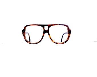 70s Aviator Bausch & Lomb  Eyeglasses Frames Unisex Vintage 1970's Oversized Tortoiseshell Frames Model Action Eyes #M445 DIVINE