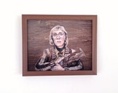 Log Lady - Twin Peaks Print - Portrait Painting on Wood - 5x7 8x10 11x14