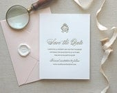 RESERVED for Blair: Letterpress Save the Date reprint
