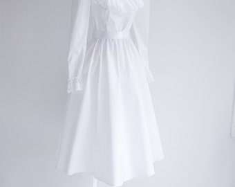 Sale - Ruffled, Scoop Neck Wedding Dress - Sz