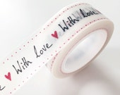 Red Heart with love Washi Tape wedding Deco Paper Tape