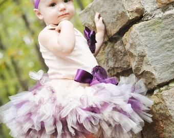 Plum and Champagne Tutu Dress