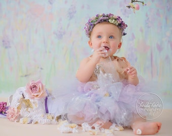 Watercolor Mermaid Tutu Dress, Baby Girl Mermaid Outfits