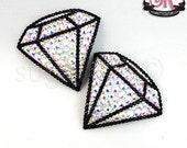 Diamond Gem Shaped Rhinestone Nipple Pasties - SugarKitty Couture