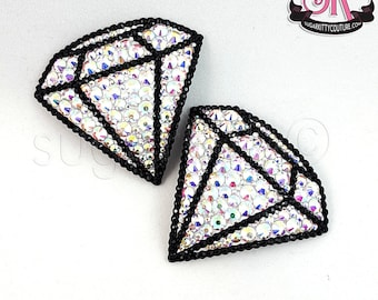 Diamond Gem Shaped Rhinestone Nipple Pasties - SugarKitty Couture