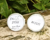 I Thought I Loved You Then Groom Cuff links Wedding Cufflinks Personalized Gift for Groom Glass  Bridal Party Mens cufflinks