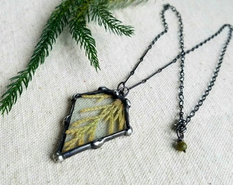 Juniper Tree Needle Necklace with real clippings