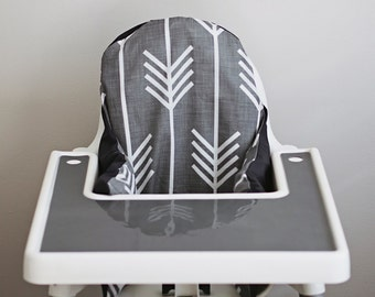 PREORDER: IKEA Antilop Highchair Cover // Charcoal Grey Arrows // High Chair Cover for the PYTTIG Cushion // Pillow Slipcover