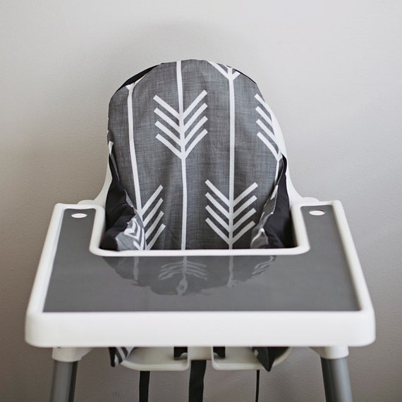 ikea antilop highchair cover charcoal grey by yeahbabygoods. Black Bedroom Furniture Sets. Home Design Ideas