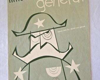 Sheet Music, Little Lead General, Piano Solo, David Carr Glover, Chilren Learners, 1951