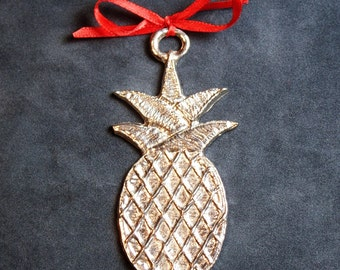 Pineapple pewter ornament