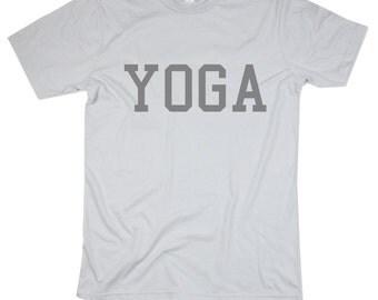 Mens Yoga Tshirt - Yoga Shirt -  Yogi - Namaste - Screen Printed Cotton Shirt - Small, Medium, Large, XL, 2XL