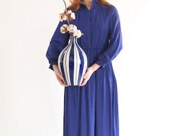 Clematis blue lady dress, Japan, vintage, small - medium