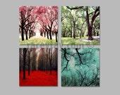 Sale - 4 Seasons Wall Art, Canvas Art, Four Seasons Art, 4 Seasons Tree, Canvas Wall Art Set