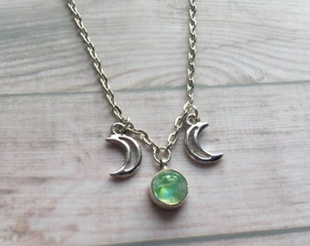 LAST ONE Moonstone Triple Goddess necklace