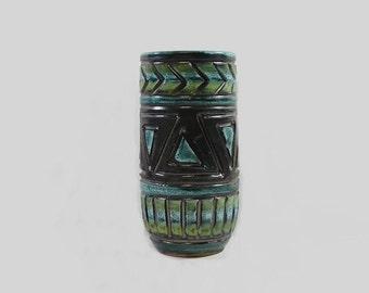 Vintage - Sgraffito - Vase - Pottery Ceramic - Italy