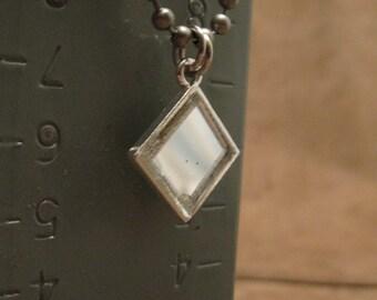 Neo nightclub disco ball mirror urban artifact necklace - contains actual mirror tile from Neo's disco ball