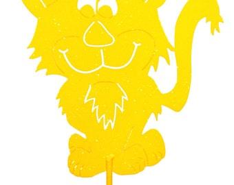 Hand Made Scary Kat Cat Yellow Yard Art *NEW*