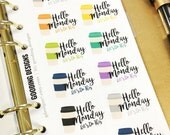 12 Hello Monday Let's Do This Coffee Planner Stickers (CM1) | Perfect for SMC, Kikki K, Filofax, Color Crush, MAMBI, EC, Recollections