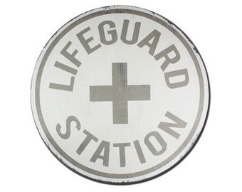 Lifeguard Station - wooden hand painted sign