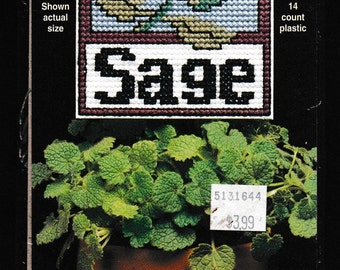 Sage item 2633 14 count plastic Counted Cross Stitch