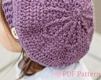 PDF, Crochet Beret Pattern, Beret, Crochet Hat Pattern, Baby Beret, Toddler Beret