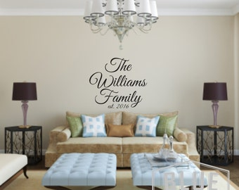 Family Last Name Vinyl Wall Decal - Family Name Vinyl Wall Decal - Family Decal - Last Name Vinyl Wall Decal - Personalized Name