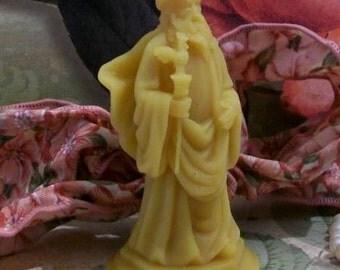Orisha Obatala Beeswax Candle Yoruba Lucumi Set of 2