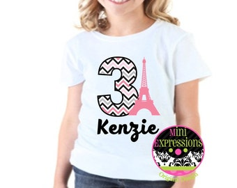 Paris  Birthday Shirt Personalized Just for You