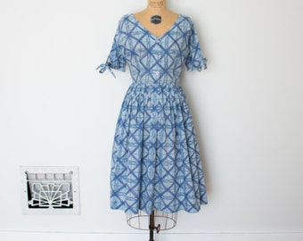 Vintage 50s Dress - 1950s Day Dress - The Reese