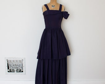 Vintage 1940s Dress - 40s Evening Gown - The Katharine