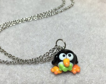 Dapper Penguin Necklace in Silver
