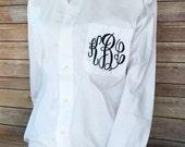 Monogrammed Oxford Shirt Wedding Day