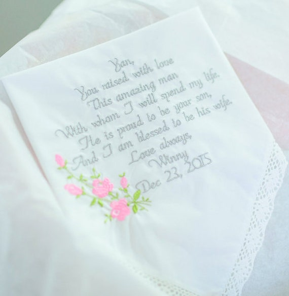 Wedding Gift Mother of the Groom Wedding Gift for Mom Embroidered ...