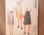 SALE...Vintage 40's Sewing Pattern,McCall Pattern 4609, Size Small, Waist 26, A Line Pleated Gored Skirt in Variations
