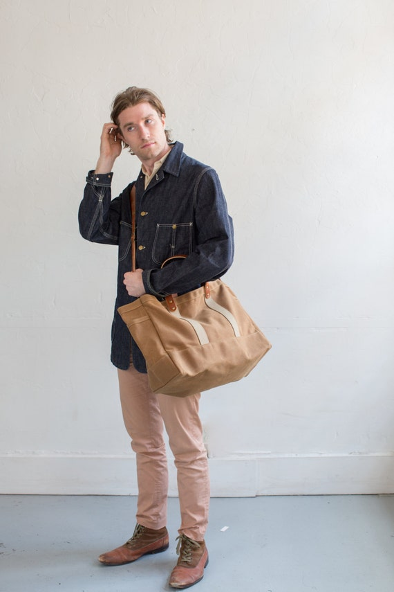 No. 175 Tool / Garden Tote in Rust Waxed Canvas
