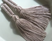 Iced coffee art silk Moroccan coiled tassels, Moroccan decor, set of 2