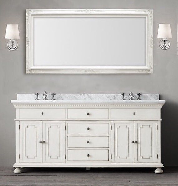 White Frame Bathroom Mirror many sizes available white framed bathroom mirror framed