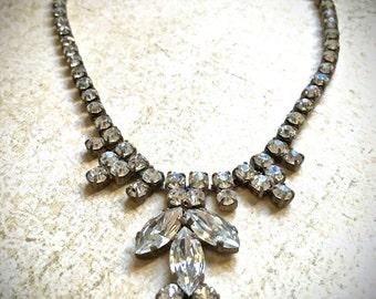 Rhinestone Vintage Choker- Art Deco Necklace