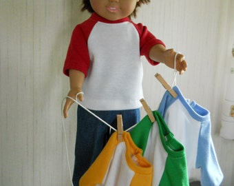 "18"" Boy Girl Doll Clothes Jeans with Jersey Your Color Choice for American Girl Type Dolls"