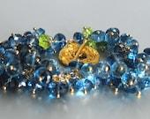 London Blue Topaz Bracelet with Swiss Blue Topaz and Peridot