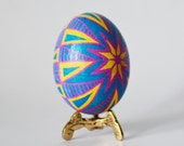 Pink pastels Pysanka Ukrainian Easter egg ~  hand painted egg ornament with hot beeswax ~  romantic style Easter decorations ~ floral design