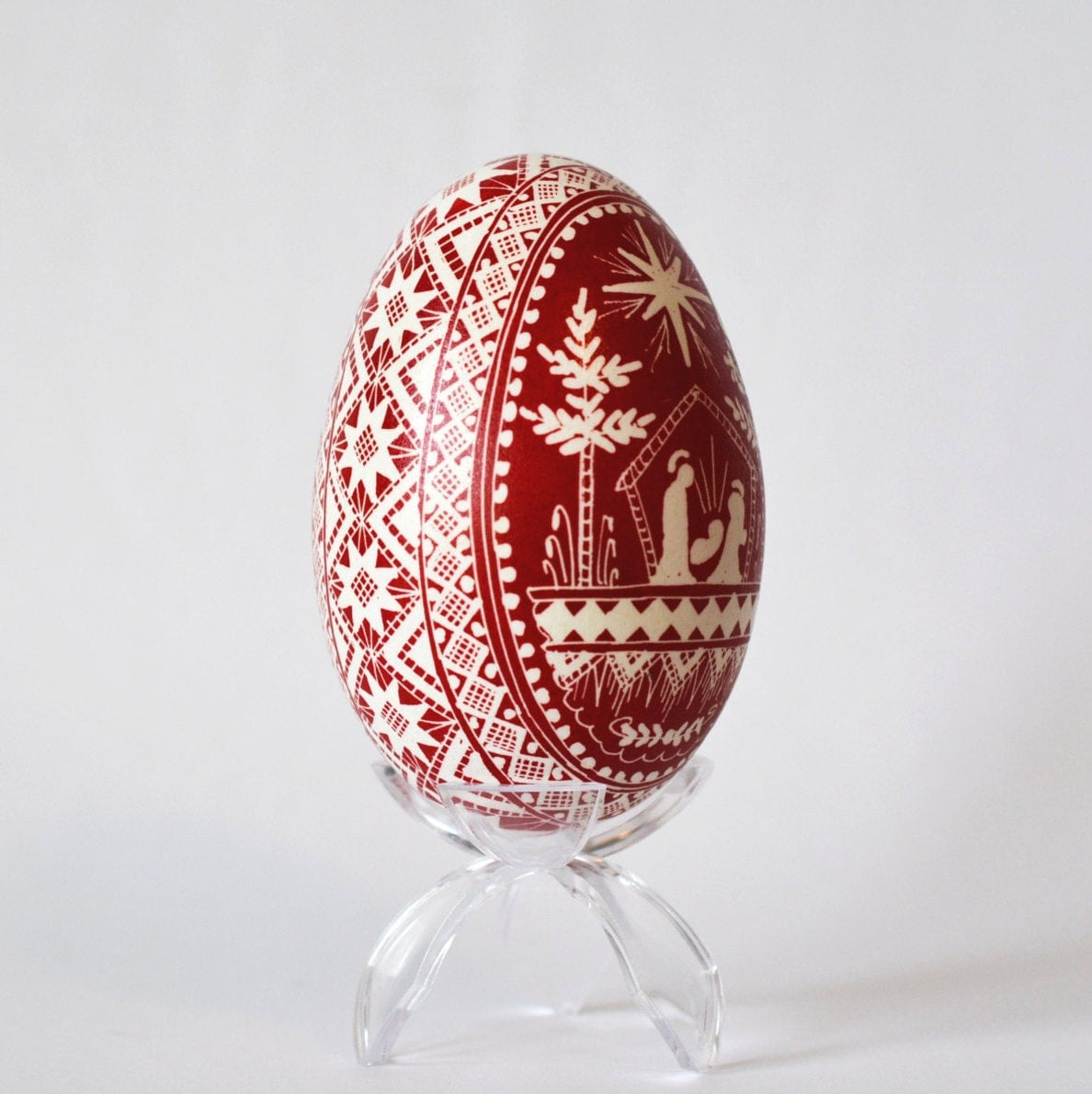 nativity goose egg pysanka ukrainian eggs by