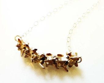 Rattlesnake Vertebrae Necklace, Nature Jewelry, Organic, Reptile, Bone, Spine, Rustic, Spike, Hand Cast Bronze or Sterling Silver